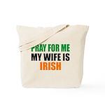 Pray Wife Irish Tote Bag