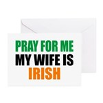 Pray Wife Irish Greeting Cards (Pk of 10)