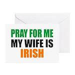 Pray Wife Irish Greeting Cards (Pk of 20)
