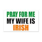 Pray Wife Irish Rectangle Car Magnet