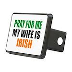 Pray Wife Irish Rectangular Hitch Cover