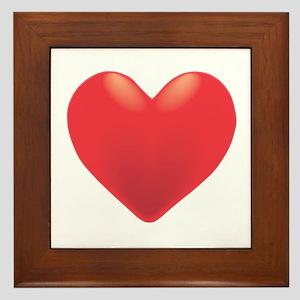 Single Red Heart Framed Tile
