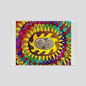 Trippy Colors Rectangle Magnet
