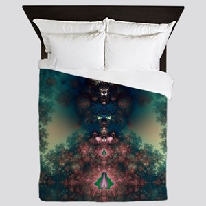 Green Fairy Tale Queen Duvet