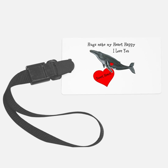 Personalized Whale Luggage Tag