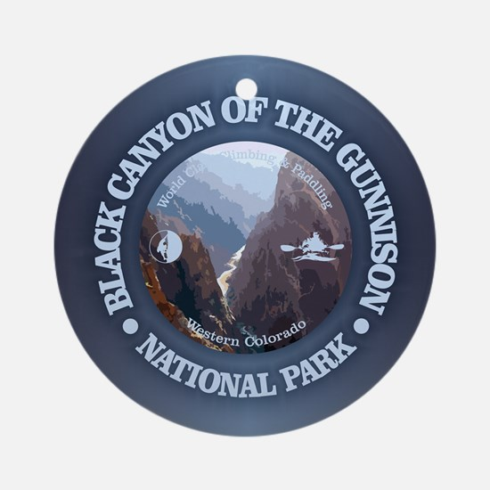 Black Canyon of the Gunnison Round Ornament