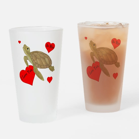 Personalized Turtle Drinking Glass