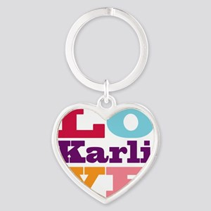 I Love Karli Heart Keychain