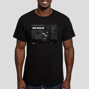 Hug Dealer Men's Fitted T-Shirt (dark)
