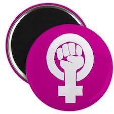 Pink feminist symbol Magnet