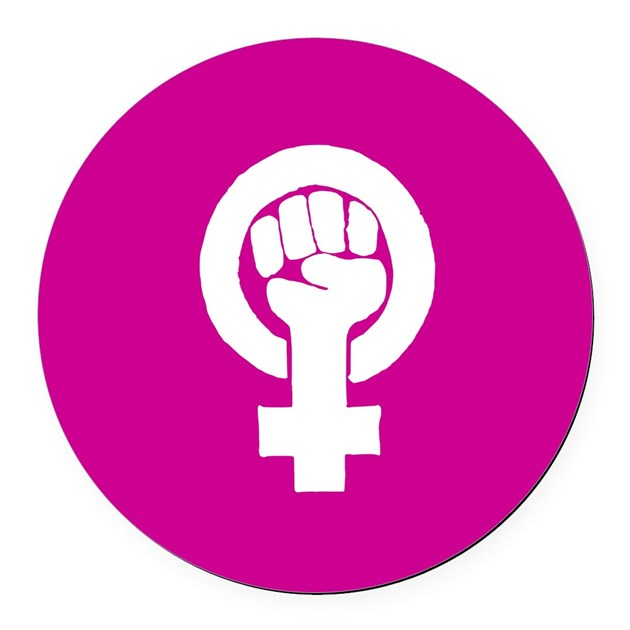 Design Your Own Car >> Pink feminist symbol Round Car Magnet by PurplePlanet
