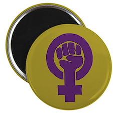 Purple feminist symbol Magnet