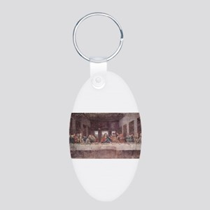 the last supper Aluminum Oval Keychain