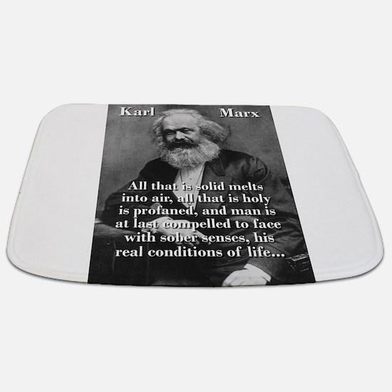 All That Is Solid - Karl Marx Bathmat