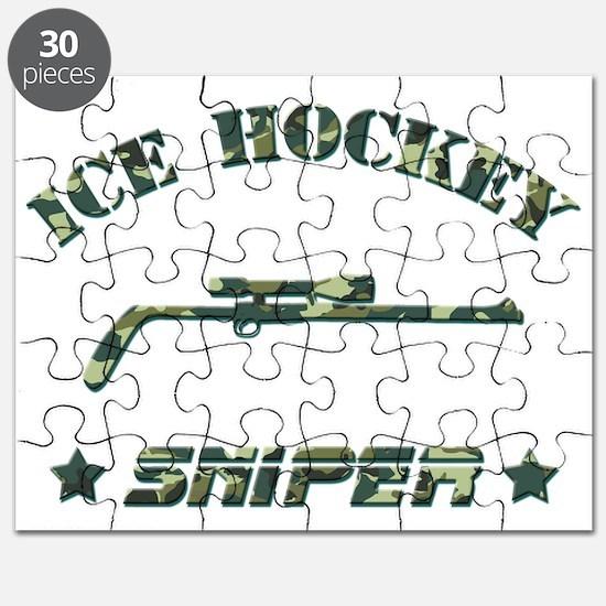 Ice Hockey Sniper (green camo) Puzzle