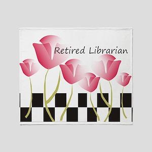Retired Librarian Pillow 1 Throw Blanket