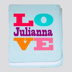 I Love Julianna baby blanket