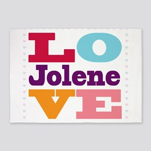 I Love Jolene 5'x7'Area Rug