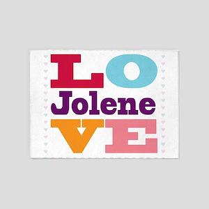 I Love Jolene 5'x7'Area Rug