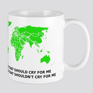 Don't Cry For Me Argentina Graph Funny T-Shirt Mug