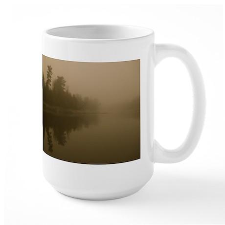 Mississippi River Fog Large Mug