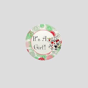 Its A Girl Maternity Milestone Mini Button