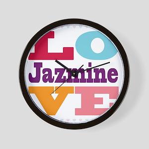 I Love Jazmine Wall Clock