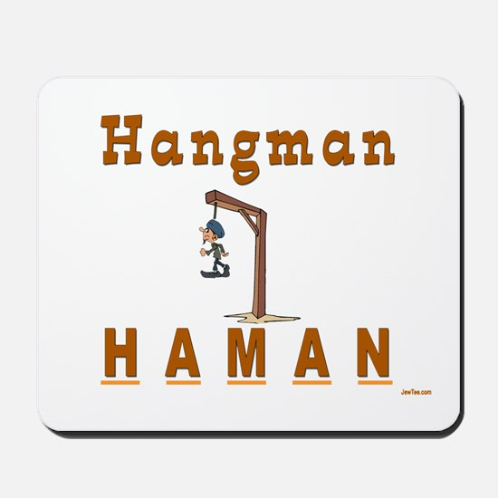 Purim Hangman Haman Mousepad