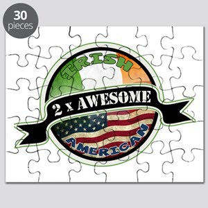 2x Awesome Irish American Puzzle