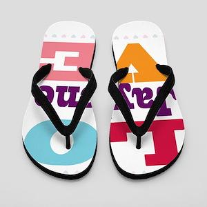 I Love Jaylene Flip Flops