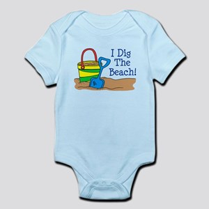 I Dig The Beach Infant Bodysuit
