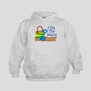 I Dig The Beach Kids Hoodie