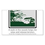 Relaxing Walk Sticker (Rectangle 50 pk)