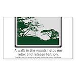 Relaxing Walk Sticker (Rectangle 10 pk)