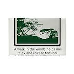 Relaxing Walk Rectangle Magnet (100 pack)
