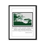 Relaxing Walk Framed Panel Print