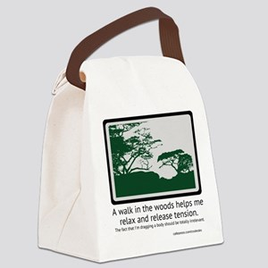 Relaxing Walk Canvas Lunch Bag