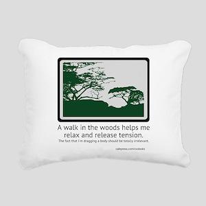 Relaxing Walk Rectangular Canvas Pillow