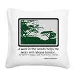 Relaxing Walk Square Canvas Pillow
