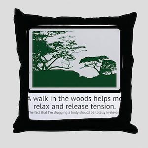 Relaxing Walk Throw Pillow