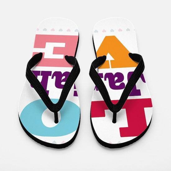 I Love Janiah Flip Flops