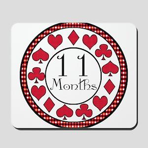Alice 11 Months Milestone Mousepad