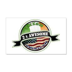 2x Awesome Irish American Wall Decal