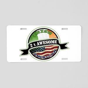 2x Awesome Irish American Aluminum License Plate