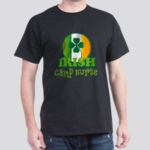 Irish Camp Nurse St Patricks Dark T-Shirt
