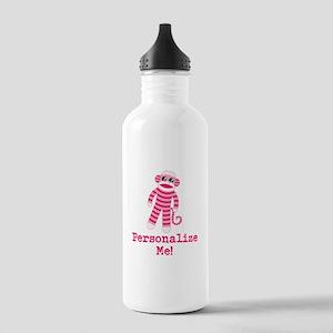 Pink Sock Monkey Stainless Water Bottle 1.0L