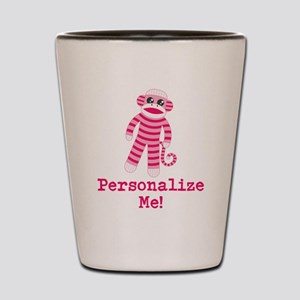 Pink Sock Monkey Shot Glass