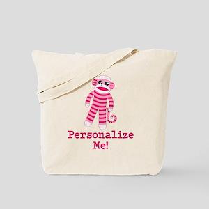 Pink Sock Monkey Tote Bag