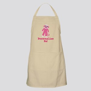 Pink Sock Monkey Apron