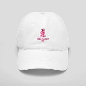 Pink Sock Monkey Cap